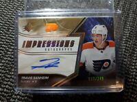 2018-19 SPX Impressions Autographs Travis Sanheim 233/249 Philadelphia Flyers