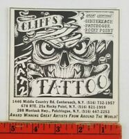 Vintage 1980's Cliff's Tattoo Centereach Rocky Point Patchtogue New York Print