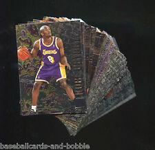 1996-97 Fleer Metal Series 2 Basketball Set 151-250 KOBE BRYANT Rookie Card
