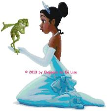 "Disney's ""The Princess and the Frog""  Fantasy Cross Stitch Pattern CD"