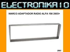 Soporte marco Fascia auto-radio Alfa romeo 156 2003>  plata o negro