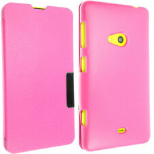 FOR NOKIA LUMIA 625 LEATHER CASE COVER FLIP WALLET POUCH BACK + SCREEN GUARD SP