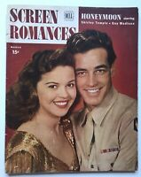 Screen Romances Magazine 1947 GUY MADISON Shirley Temple Powell & Pressburger