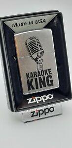 Original Zippo - Retro Microphone , Karaoke King  - 2016 -  Neu 60003255
