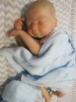 "REBORN BABY BOY 18"" SANDRA WHITE LANE NOW HUGO BY DAN AT SUNBEAMBABIES GHSP 5LBS"