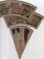 LATEST British ROYAL MARINES  COMMANDO MULTICAM  MTP shoulder titles -Sand