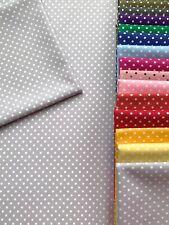 100% cotton fabric vintage silver pale grey 2-3mm polka dot spot patchwork quilt