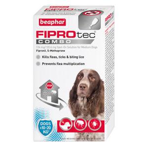 Beaphar FIPROtec COMBO Flea & Tick Spot On For medium dogs 3 treatment