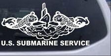 U.S. NAVY SUBMARINE SERVICE Car Truck Window Laptop Decal Sticker White 14X6.8