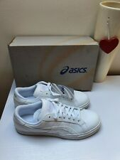 ASICS Womens Trainers White Logo Sport Casual Lace Up Sz 3