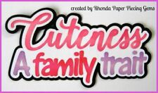 CUTENESS FAMILY GIRL title paper piecing Premade Scrapbook Pages album by Rhonda