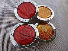 10-30V LED ROUND 2 BLINKER and 2 STOP TAIL LIGHTS 4 TRAILER TRUCK UTE CAR