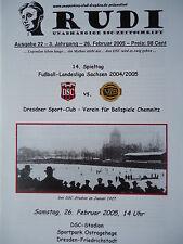 Programm 2004/05 Dresdner SC 1898 - VfB Chemnitz (nachgeh.)