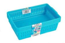 Blue Set of 5 Small Plastic Handy Fruit Vegetable Basket Kitchen Office Storage