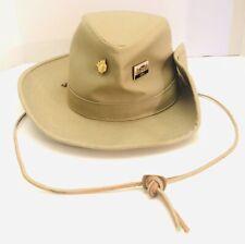 Vtg Walt Disney World Wilderness Lodge Adult Tilly Hat W/ Collectible Pins NWT!