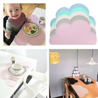 Silicon Cloud Shape Kids Placemat Waterproof Heat Insulation Baby Kitchen  bv