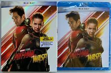 NEW MARVEL ANT-MAN AND THE WASP BLU RAY + SLIPCOVER SLEEVE WALMART EXCLUSIVE