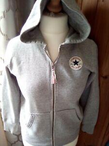 used CONVERSE age 12/13 light grey hoodie