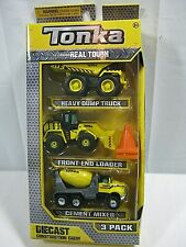 Tonka Diecast Construction Crew 3-Pack Front Loader Dump Truck Cement Truck