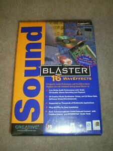 Creative Sound Blaster 16 WavEffects Model SB4171 Card Brand New and In Shrink