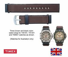Genuine Timex Brown Nylon Watch Strap for T45181, T41341, T84601 Timex Watches