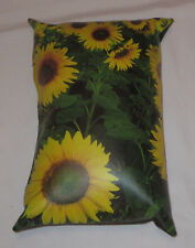 Yellow Sunflower Pillow Synthetic Leather Flower Time Couch Defy Brands Display