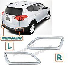 Accessories Chrome Pair Rear Fog Light Covers For Toyota RAV4 2013 2014 2015