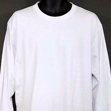 Supreme American Apparel Mens T Shirt Made In USA Wht Blank Tag Cut Size Large