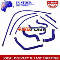 Silicone Radiator Hose Pipe kits (Blue) For FORD FALCON EF-EL 6CYL 4.0L