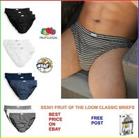 Mens Briefs Shorts 6pk Fruit Of The Loom Classic Slip 100% Cotton Underwear New
