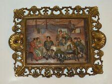 ANTIQUE B&H BRADLEY HUBBARD CAST IRON # 1817 TAVERN BEER PUB PAINTING ART FRAME