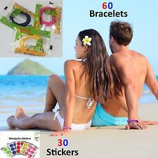 60 Lot Anti Mosquito Repellent Bracelets Insect bug Natural Deet Free Stickers