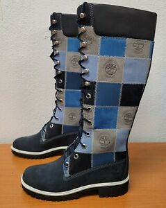 Timberland Women 14 Inch Navy Patchwork Boot 28357