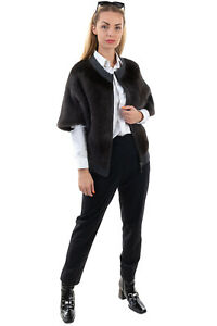 RRP €420 MAX & MOI Mink Fur Cashmere & Wool Cardigan Size 38 / M Elbow Sleeve