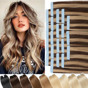 Full Head Balayage Tape In Thick Human Remy Hair Extensions 100% Real Russian 8A