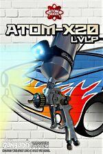 New Atom X20 Professional Spray Gun -Mp Lvlp Solvent/Waterborne w/ Free Gunbudd!