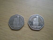 "Isle of Man ""Milner Tower"" 50p (see description) -2008 -2014"