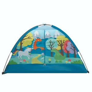 """Kids Indoor Camping Play Tent with Majestic Design Print, 60""""L x 36""""W x 36""""H"""