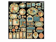 """GRAPHIC 45 """"WORLD'S FAIR"""" CHIPBOARD SETS 1 & 2  FAIRS CARNIVAL SCRAPJACK'S PLACE"""