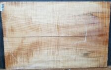 Figured Maple Wood 12383 Luthier 5A Book Matched Guitar Top set 24x 15x .75