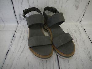 Timberland Damen Schuhe Violet Mars 2 Band Sandalen Grau Leder Gr. 38 Neu