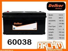 DELKOR BATTERY - CALCIUM 60038 - CCA 900 A 100 AH SAE RHP - MAINTENANCE FREE