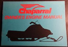 VINTAGE CHAPARRAL SNOWMOBILE ENGINE MANUAL FAN COOLED MODELS NEW  (326)