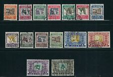 Colombia 1932-39 Long set Cattle, Bananas, Emerald etc (Sc C96-110) F/Vf Used