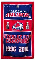 Colorado Avalanche NHL Stanley Cup Championship Hockey Flag 3x5 ft