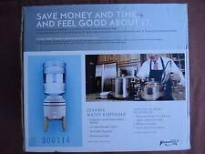 New listing Water Dispenser Ceramic Crock Beverage Drink Cooler Wooden Stand / Brand New