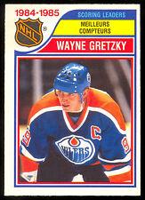 1985 86 OPC O PEE CHEE #259 WAYNE GRETZKY EX-NM EDMONTON OILERS scoring LEADER