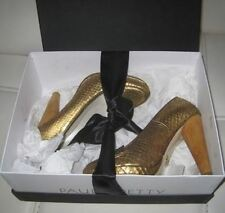 GOLD Shoes Scarpe Oro Pitone  Golden Python Shoes Luxus Geld Schuhe Pumps New