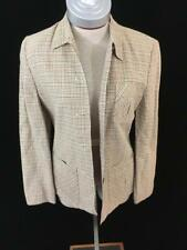 American Eagle button shirt top womens Size S green black plaid long sleeve