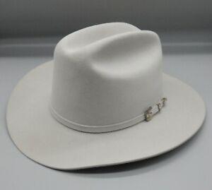 STETSON beige COWBOY HAT western wear RARE royal blue lining size 7&1/4 58 6x !!